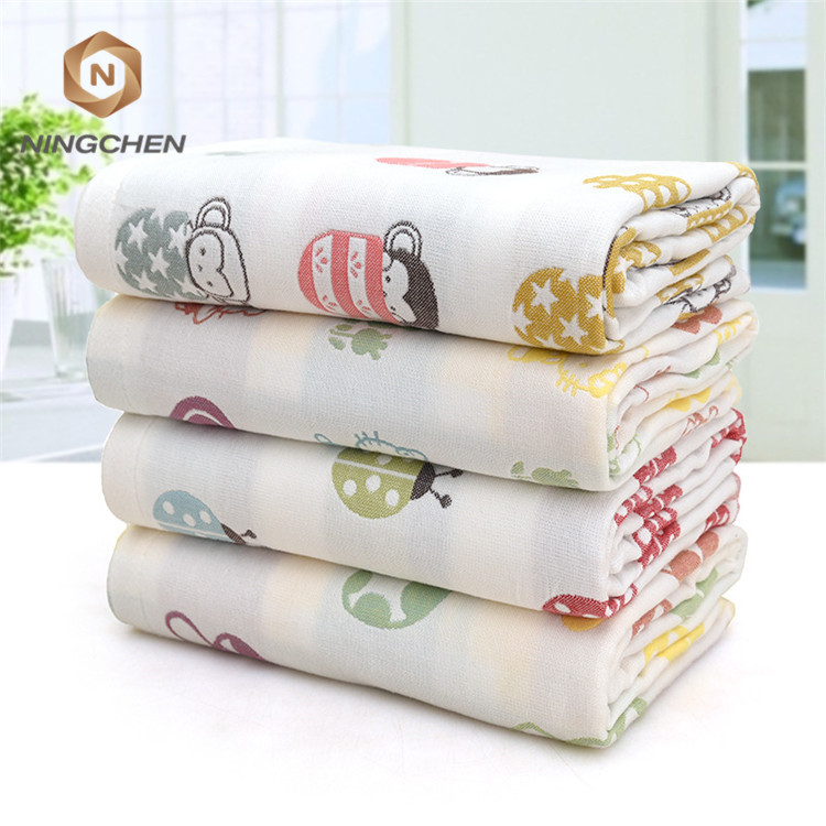 combed yarn cotton 6 layer gauze baby caring cartoon sheep soft baby clothes fabric