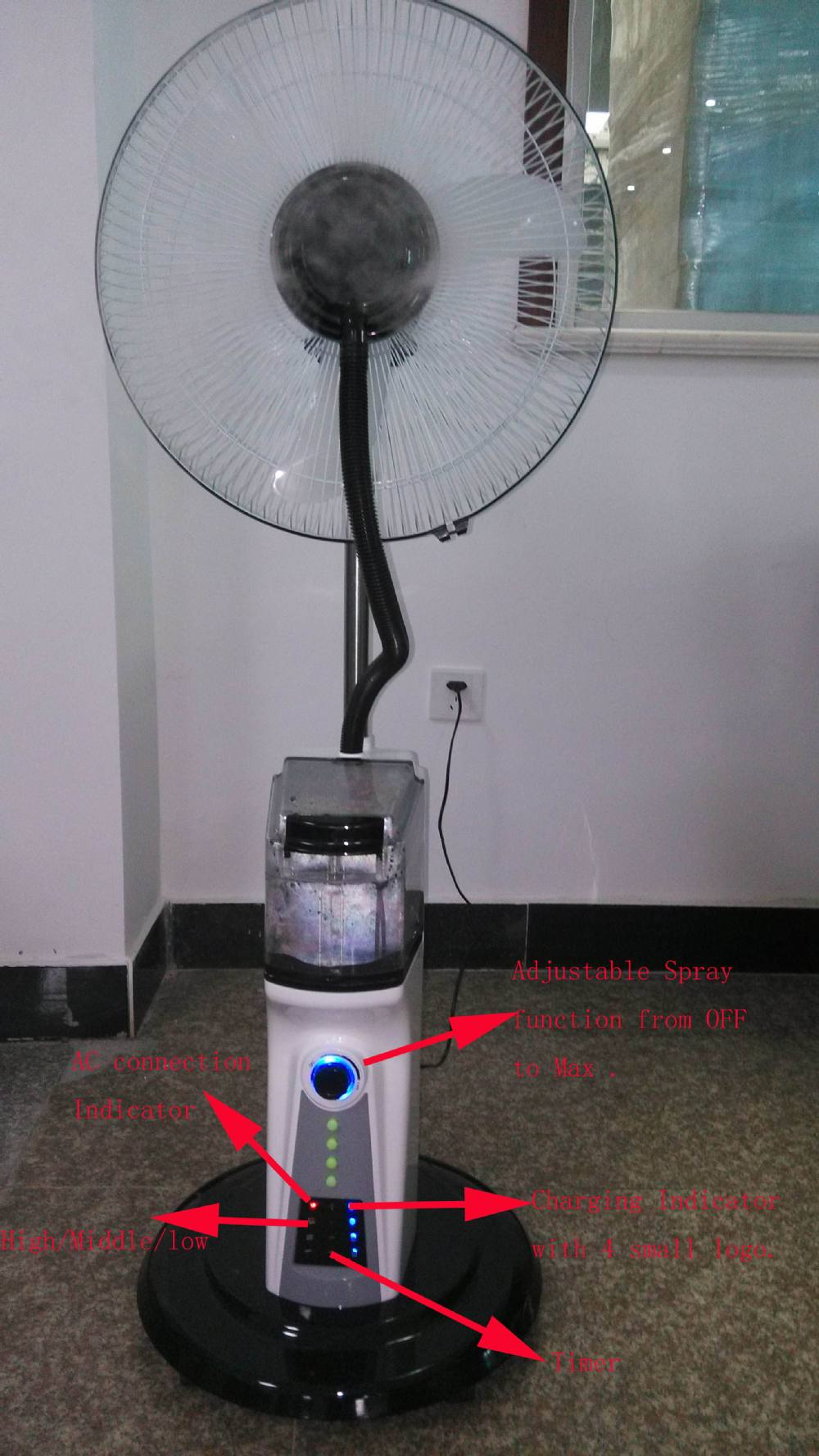 Changrong New Design 12v Dc Air Cooler Fan With Remote Control ...