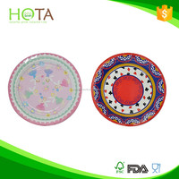 030236 hota plate gold foil paper plate party paper plate