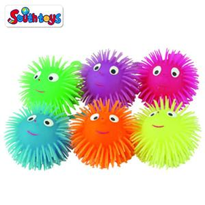 3.5 Inches Funny Smile Face With Nose Puffer Stress Relief Ball Toy