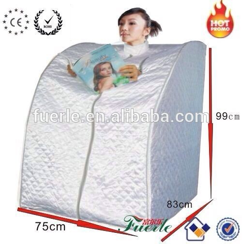 Fuerle FIR portable sauna room with footrest and heater
