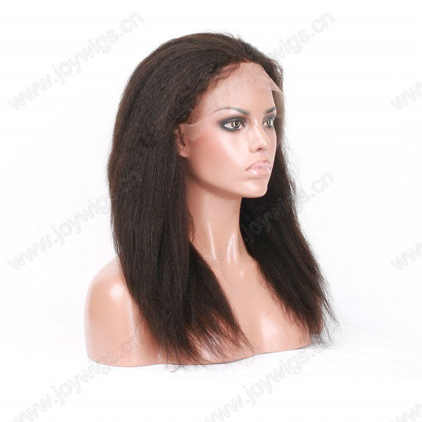 5a top quality professional factory beauty YaKi glueless human hair wigs for young women Natural Hairline Bleached Knots