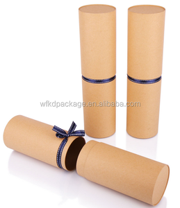 Round shape custom ricyclable material gift package paper core tube