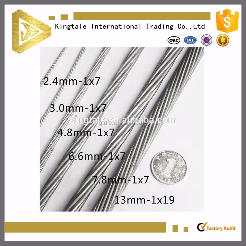 galvanized steel rope wire from China wire rope factory