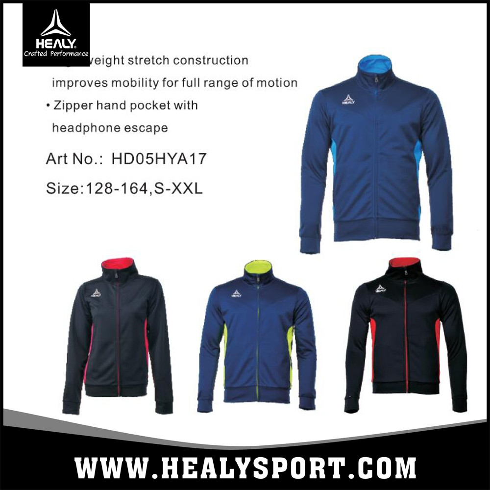 142ee10b4f1 Healy sportswear training sets soccer football navy blue tracksuit slim men
