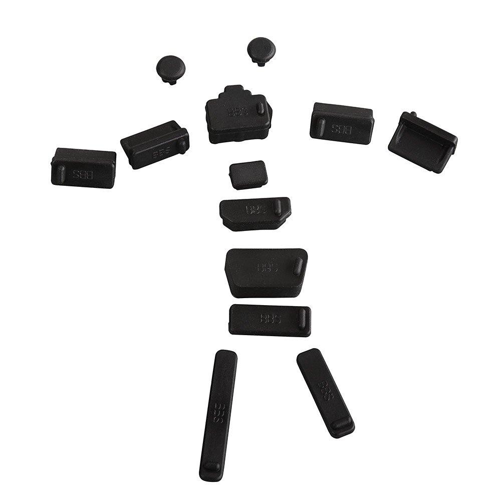 AGPtEK® Black 13pcs Silicone Anti Dust Port Plugs for Most Laptop Notebook,4 x USB plug/ 2 x Audio 3.5mm plug/ 1 x SD plug/ 1 x RJ45 plug/ 1 x 1394 plug/ 1 x HDMI plug/ 1 x VGA plug/ 1 x eSATA(A) plug/ 1 x eSATA(B) plug