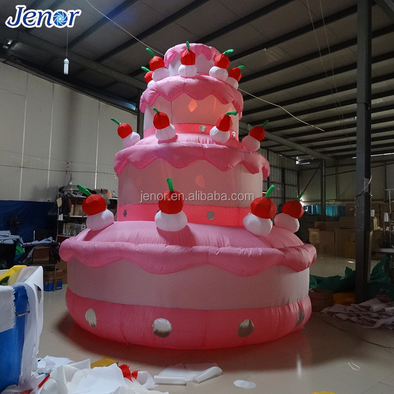 Giant Advertising Inflatable Wedding Cake Model With Cherry For