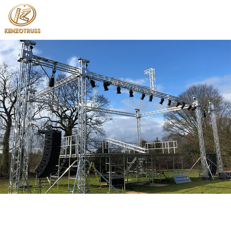 Easy Install Stage Lighting Truss System Small Stage with Trussing for Touring