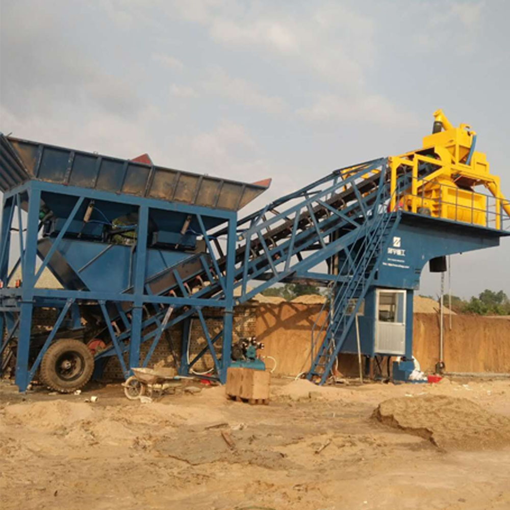 Large Mobile Concrete Mixing Plant 3.8m Discharge Height