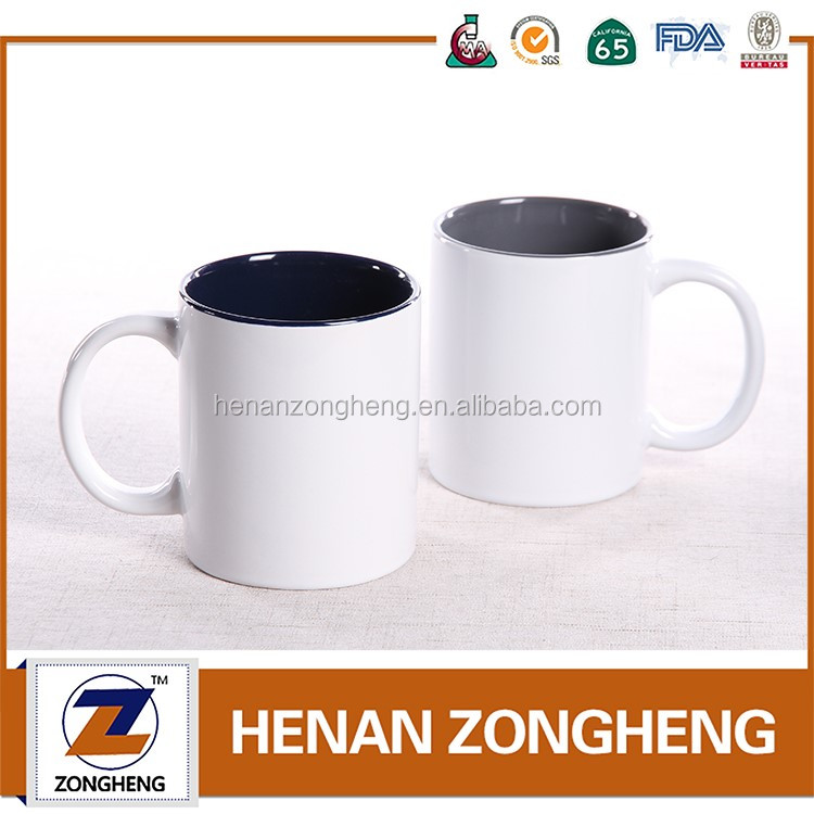 For Sale White Coffee Mug And Black Inside Glaze Mugs