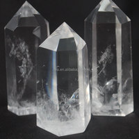 Natural 3 Pieces Crystal Quartz Point Wand Wholesale Reiki Products Healing Crystal Point Hot Sale