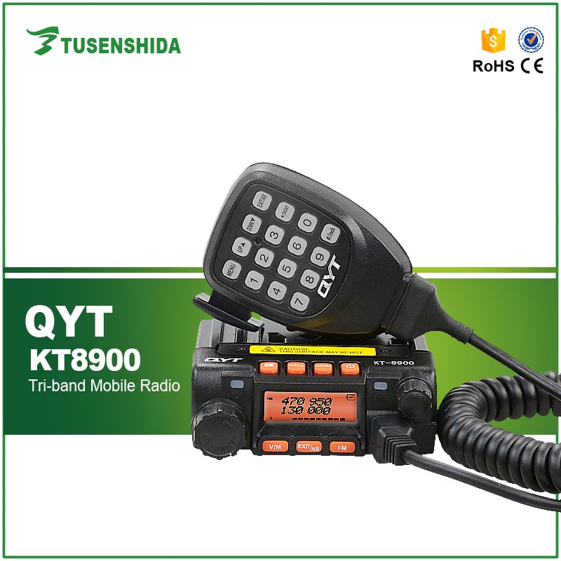 Tri Band 136-174mHz&240-260mHz&400-480mHz QYT KT8900 FM Mobile Radio Transceiver 25W Car Radio Walkie Talkie