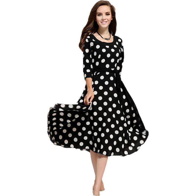 Women summer style dress 2016 new Plus size polka dot one