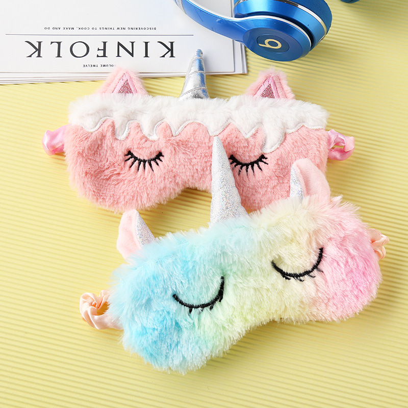 ผงใหม่ unicorn eye mask gradient สีสันสดใส shading sleep eye mask eye eye mask