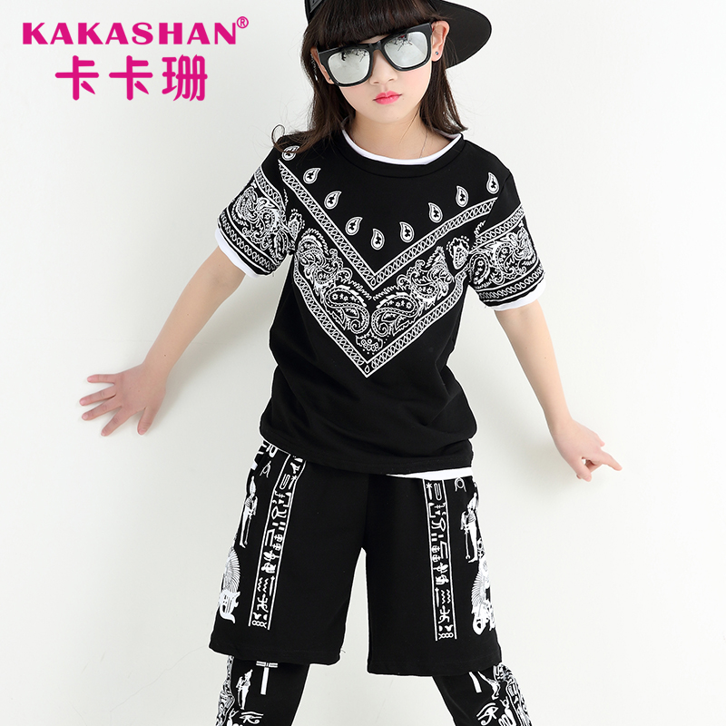 Wholesale Competition Clothing Dance Wear Kids Hip Hop Costumes Girls