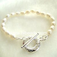 7-8mm pearl bracelet charms Pearl-jewelry-88-009