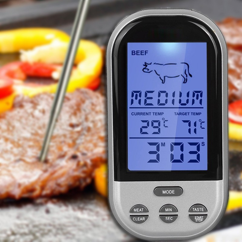 Draadloze Oven Grill Rvs Multifunctionele Digitale Vlees Thermometer