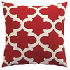 Canvas Lumbar Decorative Throw Pillow Cover Christmas Red and White