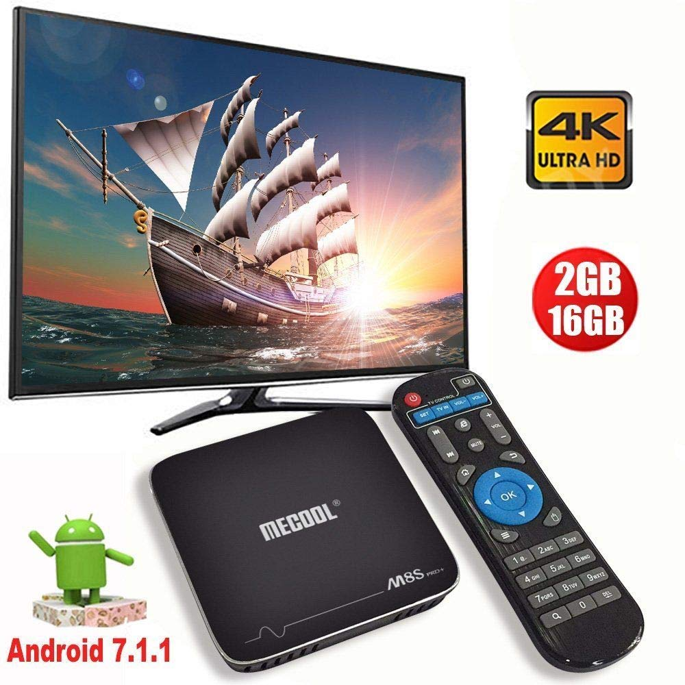Mocei Amlogic S905X 2+16G Android 7.1 Quad Core Smart TV Box 4K Media WiFi HDMI MINIPC