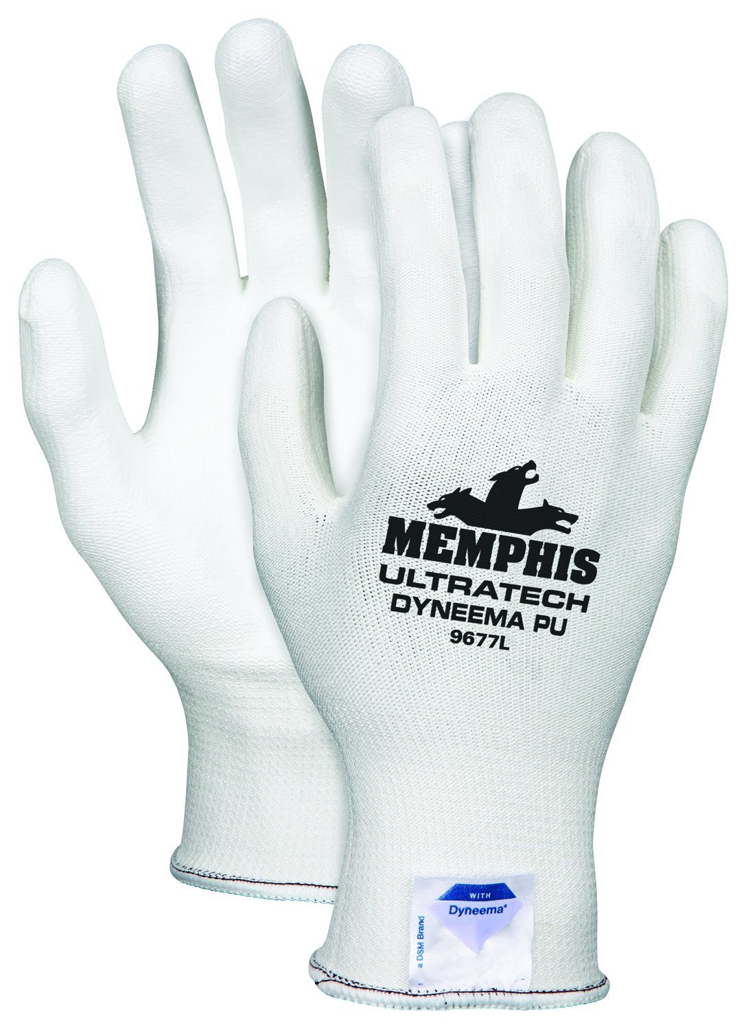 Memphis Glove 9677XL UltraTech Dyneema 13-gauge PU Coating Washable Gloves, White, X-Large, 1-Pair