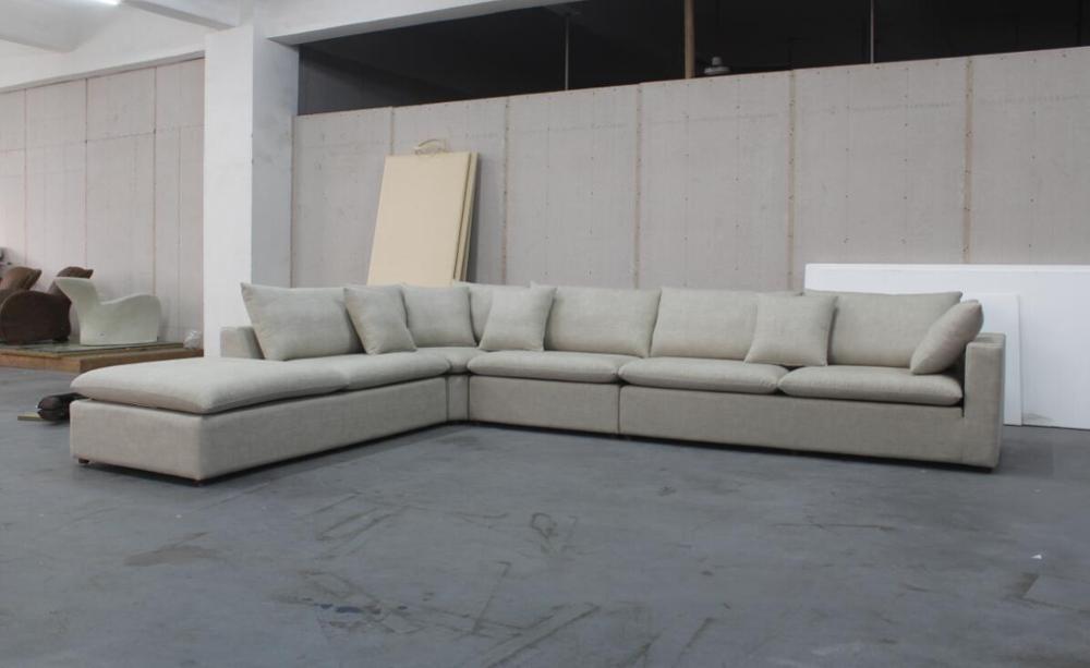 Divano Ad Angolo Grande : Stile europeo grande lusso tessuto di lino forma di l divano ad
