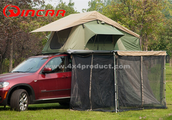 Roof Top Tent Trailer 4wd Camping Rack Pull Out Retractable 4X4 Car Side Awning