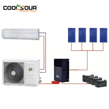 Coolsour off-Grid Solar Power Air Conditioner, 48V Solar Kit
