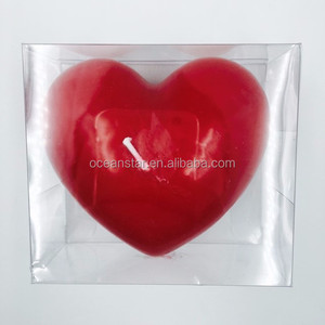 Valentine/Love type scented heart shape wax candle