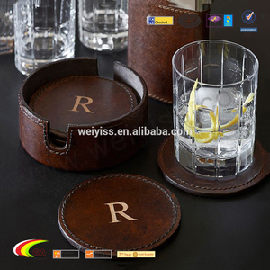 Classical hotel/bars/restaurant cup mats and drink coasters and support custom size