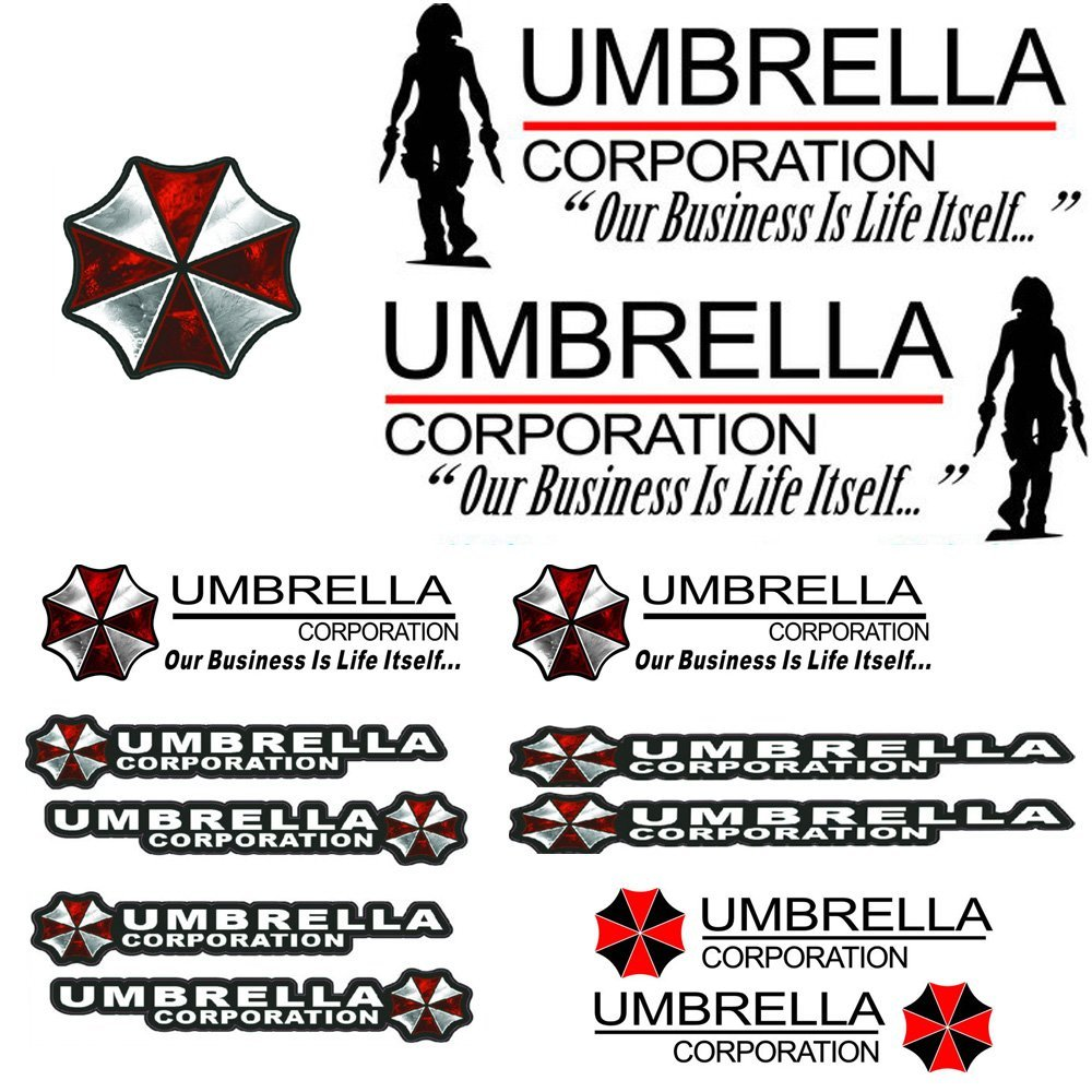 Buy Umbrella Corporation Employee Of The Month Decal Sticker