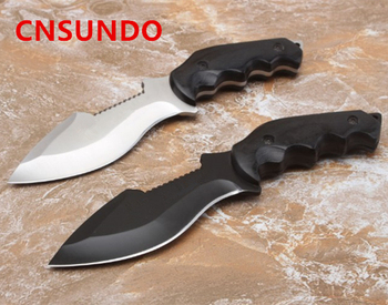 5Cr13MoV Steel Blade Wood Handle Satin Finish Fixed Blade Knife Tactical Knife