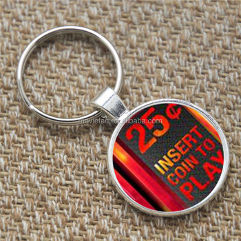 Video Game Keyring 25 Insert Coin To Play Art Fashion Print Glass Keyring -  Buy Keychain,Key Chain,Video Game Keychain Charm Product on Alibaba com