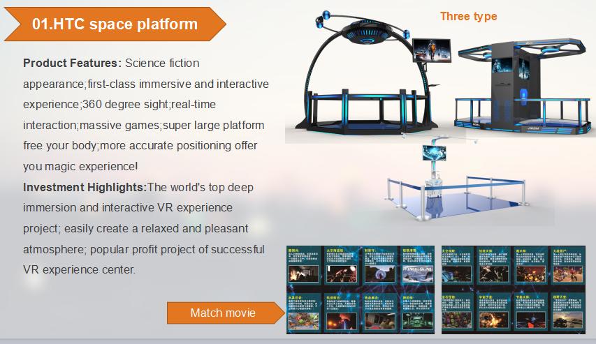 Htc Vive Vr Station Platform 9d Vr Shooting Games For Sale 360 Degree  Interactive Game Cinema - Buy Interactive Game Cinema,Vr Shooting Product  on