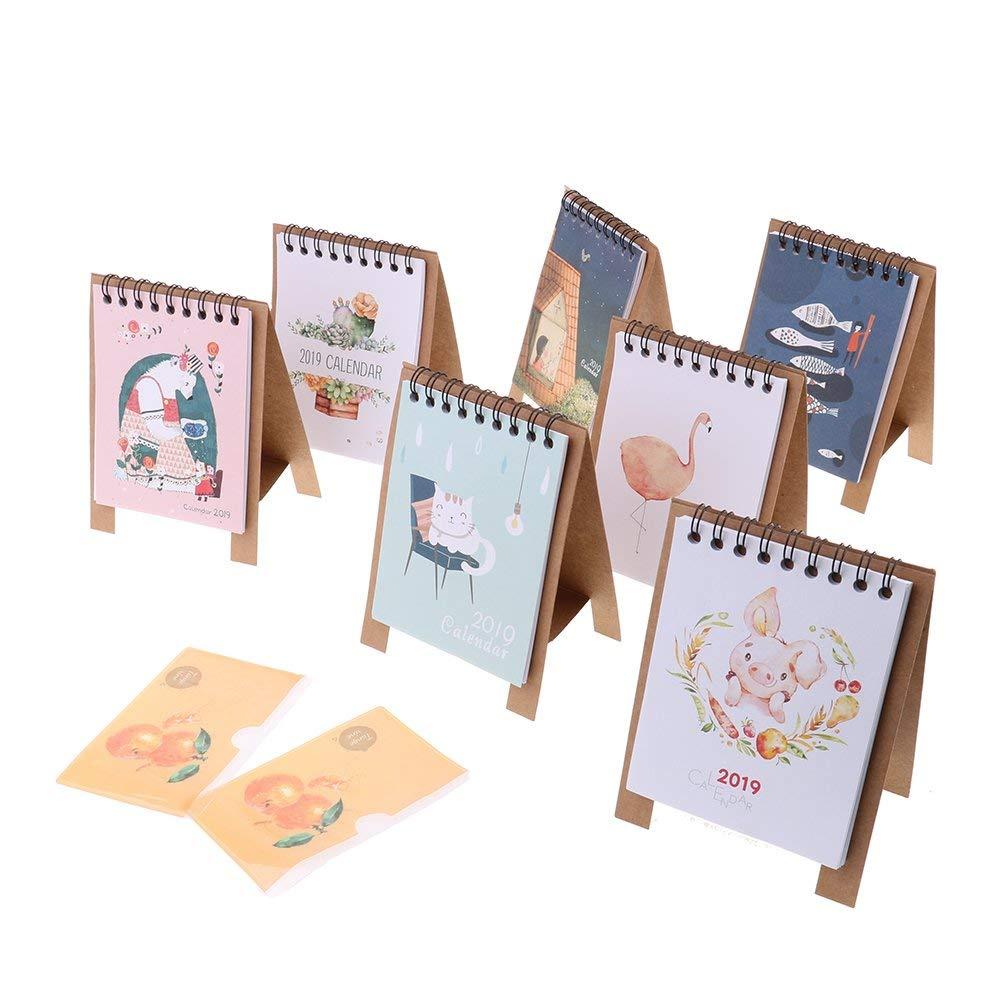 Office & School Supplies Kawaii Cartoon Animal Calendar Desk Standing Paper Calendar Multifunction Schedule Planner Notebook Sale Overall Discount 50-70%