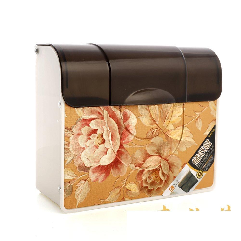 Toilet bathroom plastic tray/bathroom tissue box/wall-mounted grass-tray/storage from drilling installation-A