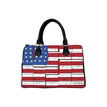 Get Quotations Jasonea Custom Boston Handbags Usa Pattern For Women