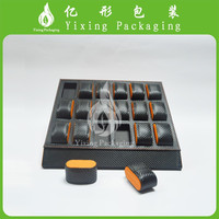Black PU leather display disc sets of 18 watch box manufacturer in Guanzhou
