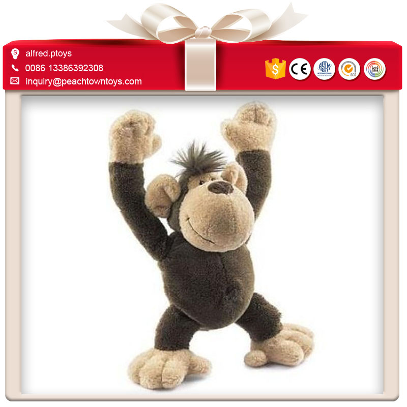 Promotional jungle wild animals toys plush monkey
