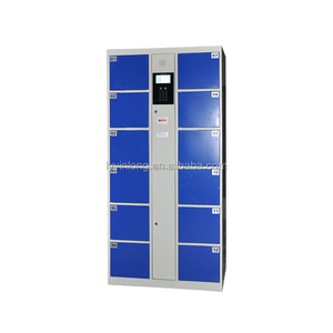 2017 new design touch screen electronic safe storage locker with barcode system