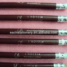 hot sales 7inch HB round hotel use pencil with white eraser OEM