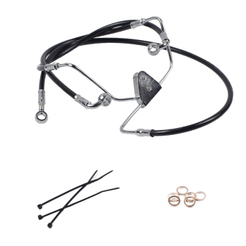 "ZJMOTO Hot Sale Front +4""/+6""/+8""/+10"" Stainless Motorcycle Brake Line Kit For Harley Touring No ABS 2008-2013"
