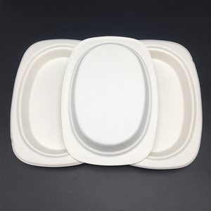 Eco-Friendly Disposable paper plates oil-proof biodegradable tableware