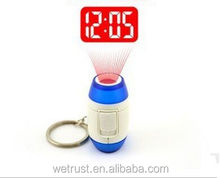 Led Projector Projection Digital Clock With Key Chain Ring