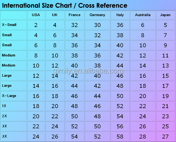 Ladies skinny jeans size chart
