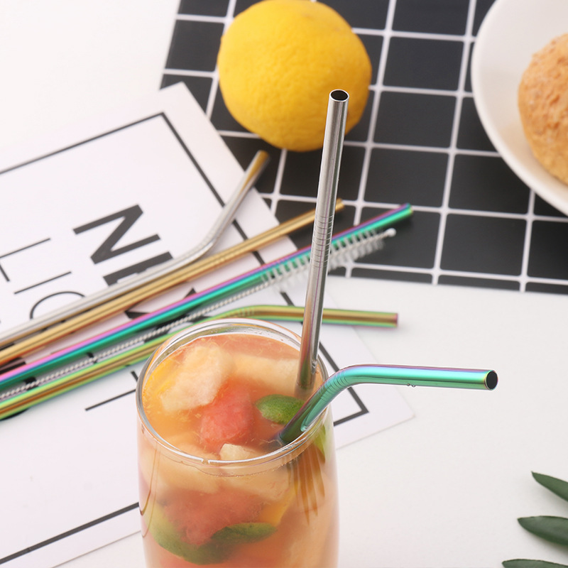 Fda Stainless Steel Cocktail Titanium Straw