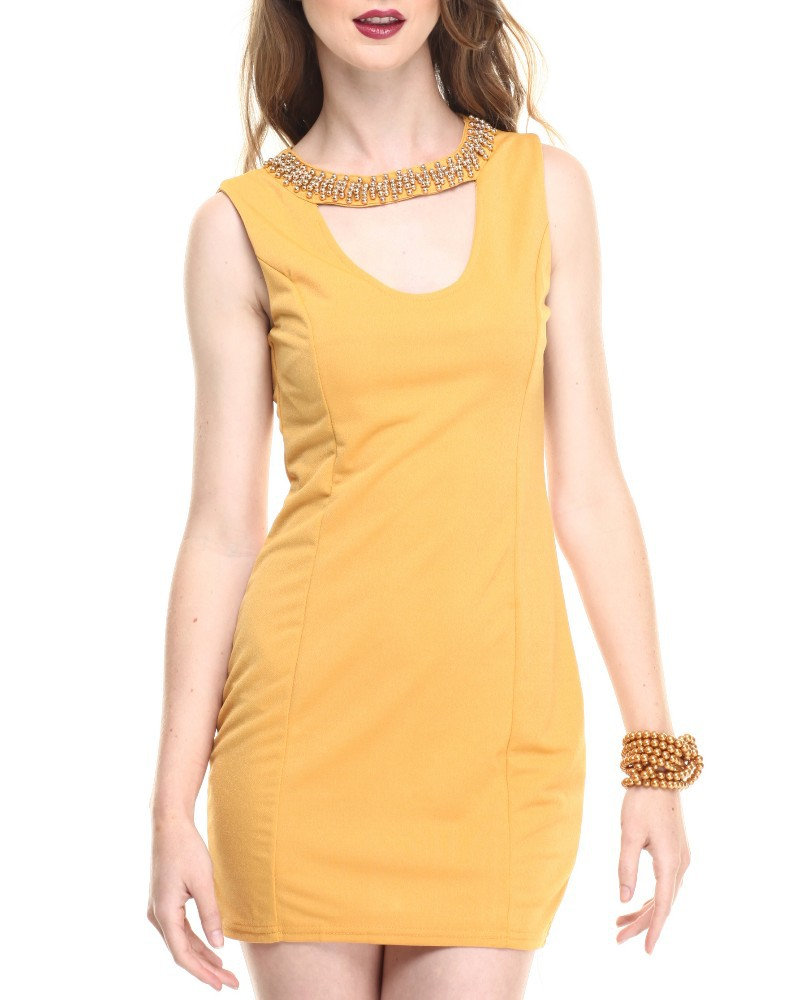 Sleeveless Scoop Neck Bodycon Dress