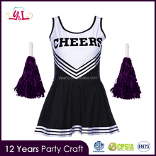 Multi-color s/m/l With Pompom Kit Cheerleader Costume Girls Cheerleader Costume