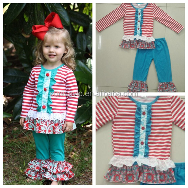 boutique remakes little girls fall clothing ruffle childrens clothes sets