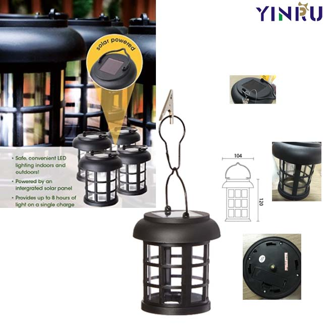 portable led solar outdoor hanging lantern