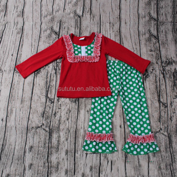 sue lucky christmas boutique outfits red t shirts green with white pants and have icing